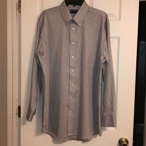 Stafford long sleeve dress shirt Sz 17 34/35
